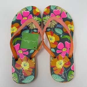 Vera Bradley Disney Parks Jazzy Bloom Flip Flops
